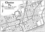 Chester City Map, Pennsylvania, United States 1920