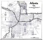 Mapa de la Ciudad de Atlanta, Georgia, Estados Unidos 1919
