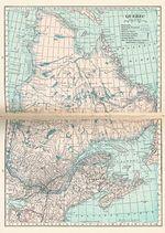 Mapa de la Ciudad de Quebec, Canadá 1921