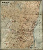 Montreal City Map, Quebec, Canada 1894