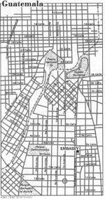 Mapa de la Ciudad de Guatemala, Guatemala