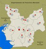 Mapa Departamento de Choluteca, Honduras