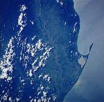 Satellite Image, Photo of Bay of Trujillo, Colón Departmento, Honduras