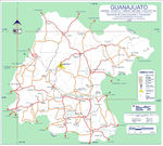 Mapa de Guanajuato, Mexico