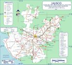 Map of Jalisco (State), Mexico
