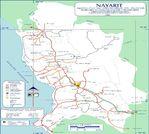 Mapa de Nayarit (Estado), Mexico