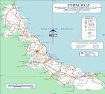 Mapa de Veracruz-Llave (Estado), Mexico