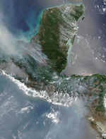 Fires and smoke across Central America