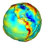 Gravity anomalies of South and North America