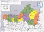Mapa de Nueva Segovia, División Político-Administrativa del Departamento, Nicaragua