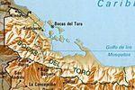 Mapa de la Provincia de Bocas del Toro, República de Panamá