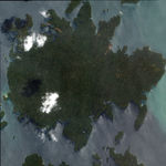 Satellite Image, Photo of Panama´s Barro Colorado Island