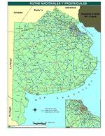 Mapa de Rutas Nacionales y Provinciales, Prov. Buenos Aires