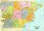 Mapa Topográfico de la Ciudad de Luisiana, Missouri, Estados Unidos