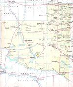 Mapa Provincia La Pampa, Argentina
