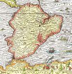 Mapa de América del Sur de 1575