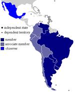Mercosur map 2007