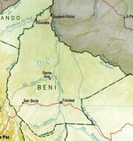 Beni Department Map, Bolivia
