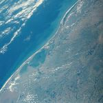 Satellite Image, Photo of Lagoa dos Patos, Rio Grande do Sul, Brazil