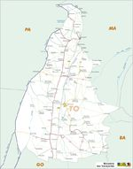 Mapa Carreteras Federales, Edo. de Tocantins, Brasil