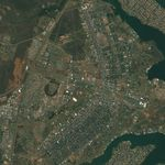 Satellite Image, Photo of Brasilia's Plano Piloto, Brazil