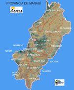 Mapa de la Provincia de Manabí, Ecuador