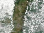 Satellite Image, Photo of Tungurahua Volcano, Ecuador