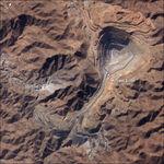 Imagen, Foto Satelite de una Mina de Cobre en Toquepala, Sur de Peru