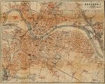 Dresden Map, Germany 1910