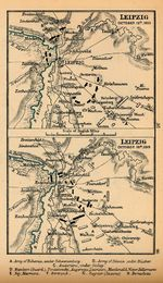 Battle of Leipzig Map, Germany, October 16th and October 18th, 1813