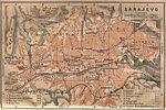 Mapa de Sarajevo, Bosnia y Herzegovina 1905