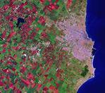 Imagen, Foto Satelite de la Ciudad de Mar del Plata, Prov. Buenos Aires, Argentina