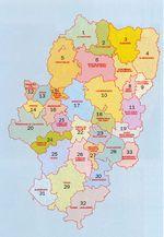 Mapa de las Principales Zonas Agrícolas de Burundi