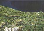 Asturias satellite map