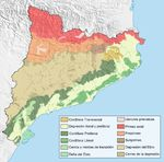 Catalonia geographical map 2008