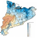 Catalonia average annual rainfall