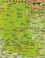 Mapa de la Provincia Palencia, España