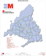 Bicycle path network of the Community of Madrid