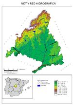 Community of Madrid physical hydrological map