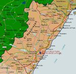 Mapa de la Provincia Castellón, España