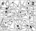 Mapa del centro de Madrid 1922