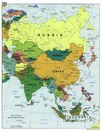 Mapa Politico de Asia 2000
