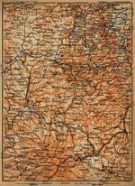 Auvergne Map, France 1914