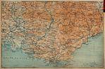 Mapa de la Provenza, Francia 1914