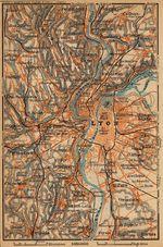 Mapa Cercanías de Lyon, Francia 1914