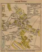 Mapa de los Foros Imperiales y sus Cercanías 1923