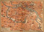 Mapa de Breslavia (Bresláu) Interior de la Ciudad, Polonia 1910