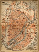 Gdansk Map, Poland 1910