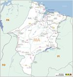Maranhão State, Federal Highway Map, Brazil