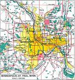 Mapa de Minneapolis/Saint Paul, Minnesota, Estados Unidos